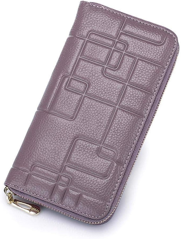 Girls Purse Women's Wallet Women's Leather Pressure Money Bag (color   D)