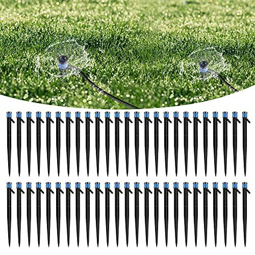 MSDADA 50 Pcs 360 Degree Adjustable Emitters Micro Sprinkler, Watering...