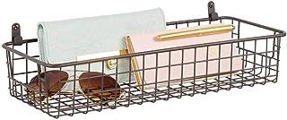 mDesign étagère murale métallique – petit panier de rangement pour couloir, chambre, salle de bain, etc. – organiseur de l...