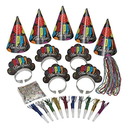 Unique Party Bolsa de cotillón para la fiesta de Año Nuevo, 10 piezas