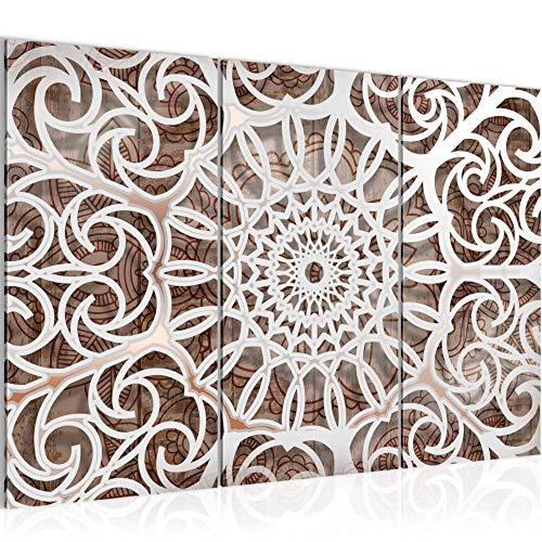 Tabla decoración de la pared de la mandala - 120 x 80 cm Vista de impresión en lienzo Salón Apartamento - listo para colgar - 109631a
