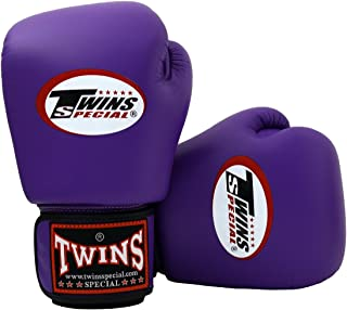 Twins Special Boxing Gloves BGVL3 Purple Size 8 10 12 14 16 oz Universal All Purposes Training Sparring Gloves for Muay Thai Kick Boxing MMA K1 Tight Fit Design with vectro straps (Purple, 12 oz)