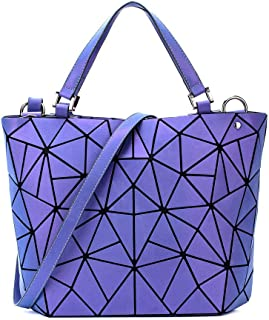 حقائب كبيرة توتس هندسية مضيئة للنساء حقائب طويلة تمر بالجسم حقائب اليد والحقائب متعددة الألوان حقيبة الكتف