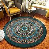 Miwaimao - Tappeto rotondo lavabile per la casa, per soggiorno, camera da letto, bagno, cucina, tappeto morbido (multicolore, 3, dimensioni, 160 cm), 4,60 cm