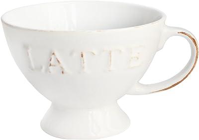 American Atelier Vintage Latte Pedestal Mug, White
