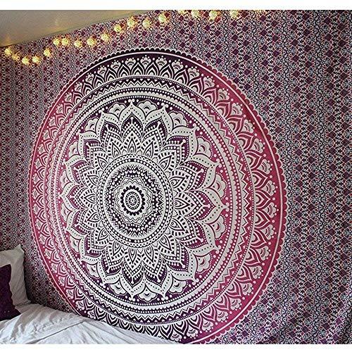 Tapiz de mandala indio colgante de pared tapiz bohemio manta de toalla de playa decoración de la pared del hogar tela de fondo A10 180x230cm