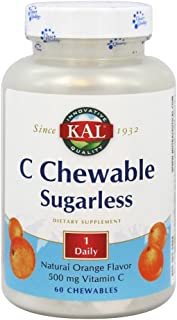 KAL Vitamin C Sugarless 500mg | 60ct
