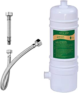 Hansing Under Sink Water Filter, High Flow Water Filtration System with 13K Ultra High Capacity - Removes 99.5% of Chlorine, 99% of Chloramine, 99.9% of Lead, Heavy Metals, Odors, Bad Tastes, etc