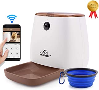 Smart Pet Feeder 12 Meals Auto Pet Dog Feeder and Cat Feeder 1080P HD WiFi Pet Camera with Night Vision for Pet Viewing Compatible with Alexa 2 Way Audio Communication