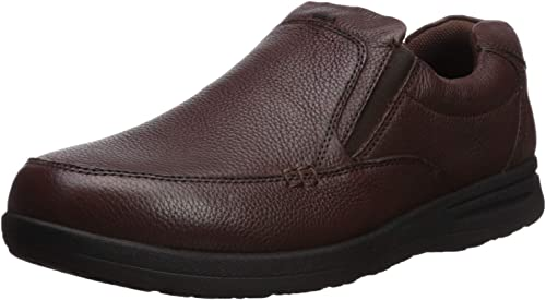 Nunn Bush Men's Cam Moc Toe Slip-On braun Tumbled Leather 11.5 W US