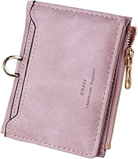 TJEtrade Small Wallets for Women Bifold Slim Coin Purse Zipper ID Card Holder