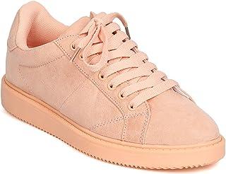 Womens Qupid Orange Fabric Canvas Shoes Size 7 1//2