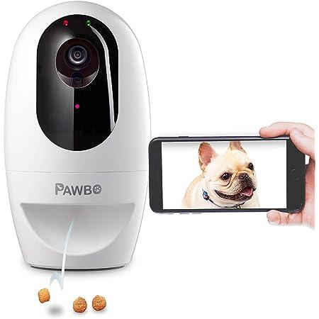 Pawbo+(パウボプラス) Pawbo+ パウボプラス ホワイト 自動給餌器 写真 動画 見守りカメラ お留守番カメラ