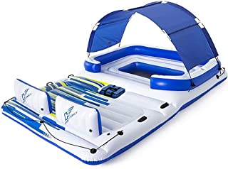 Tropical Breeze Large Floating Island Raft, Lounge Fitsup to 8-10 People, Great for Pool, Lake, River