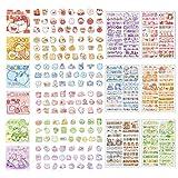 Cute Cartoon Rabbits Decoration Stickers for Scrapbook Planners Gift Packing Scrapbooking Album Planner Journal Arts DIY Craft