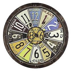 Cooper Classics Hildale 26.5 in. Wall Clock