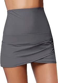 LookbookStore Women Hight Waisted Bikini Bottom Tulip Cut Ruched Swim Skirt