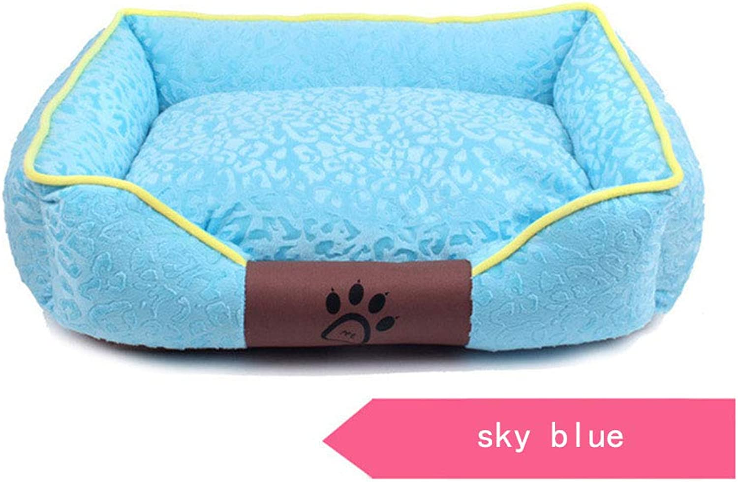 Lounge Dog Bed,Large Plush Dog Bed, Removable & Washable Cover W YKK Zippers, 63Cm X 53Cm X 25Cm, 9.2 Lbs,(Sky bluee, pink Red, Grass Green, Pink),bluee