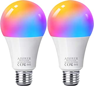 Ampoule Intelligente Wifi Led Smart Bulb E27, AISIRER RGB Ampoule Connectee Alexa 10W 1000LM, Compatible Avec Alexa/Google...