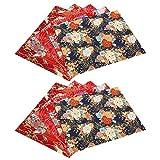 10 Piezas de Tela de algodón Floral, 9.8 x 7.9 Pulgadas Estilo japonés Tela de algodón Estampada de Bronceado Suave Cómodo Acolchado Accesorios Costura Acolchado Artesanía Tela Patchwork Algodón