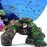 Abnaok Aquarium Stacked Stone Rock Decor Mountain for Freshwater Saltwater Fish Tank Ornament