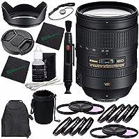 Nikon AF-S NIKKOR 28-300mm f/3.5-5.6G ED VRレンズ + 77mm 3ピースフィルターセット (UV、CPL、FL) + 77mm +1 +2 +4 +10クローズアップマクロフィルターセット + レンズキャップ + レンズフード + レンズクリーニングペン バンドル 4