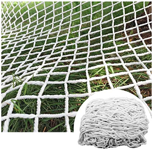 STTHOME Child Safety Net Protection Climbing Frames Safety Netting for Cats And Kids Large Net for Stuffed Animals Nets Soccer Goal Replacement White 6mm/5cm Multi-size (Size : 6x8m)