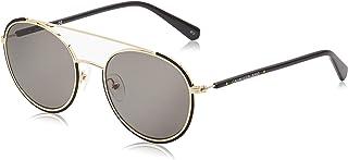نظارة شمسية دائرية سي جي كيه سيتي للنساء من كالفن كلاين، لون اسود غير لامع