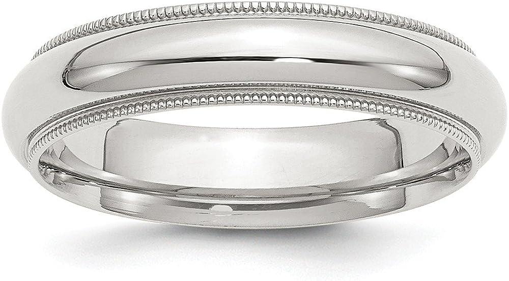 Sterling Silver 5mm Milgrain Comfort Outlet SALE Fit Band Ring Under blast sales
