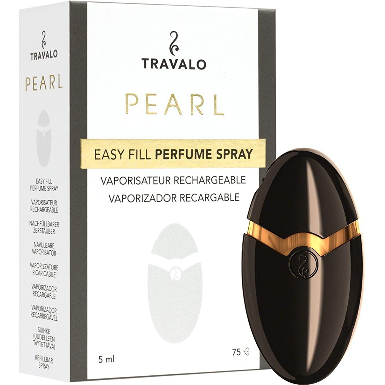 雨インスタント大洪水TRAVALO PEARL トラヴァーロ 香水 スプレー 香水 アトマイザー 香水 ボトル (ブラック)