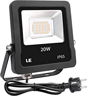 Lighting EVER - Foco LED 20W 1600lm, Resistente al Agua IP65, para Exteriores , color Blanco Cálido