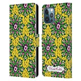 Head Case Designs Licenza Ufficiale Frida Kahlo Mandala Floreale Porpora Cover in Pelle a Portafoglio Compatibile con Apple iPhone 12 PRO Max