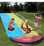 OMGPFR 6.1m géant N Surf » Double Toboggan Gonflable Jeu Centre Toboggan pour Les Enfants d'été Cour arrière Piscine Jeux Jouets d'extérieur