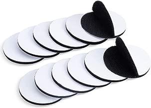 TOOHUI 12 pares de correas de gancho y bucle, cinta de velcro de doble cara extra fuerte para la industria de la oficina en el hogar, negro (redondo, 5 cm x 5 cm)