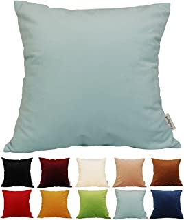 TangDepot Solid Velvet Throw Pillow Cover/Euro Sham/Cushion Sham, Super Luxury Soft Pillow Cases, Many Color & Size options - (24