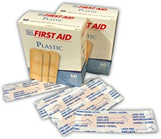 American White Cross First Aid Brand Plastic Bandages 3/4x3 60/box (120)
