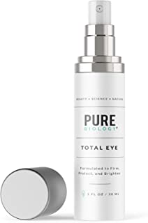 [Pure Biology] [アイクリームTotal Eye Cream with Vitamin C + E, Hyaluronic Acid & Anti Aging Complexes to Reduce Dark Circles, Puffiness, Under Eye Bags, Wrinkles & Fine Lines] (並行輸入品)