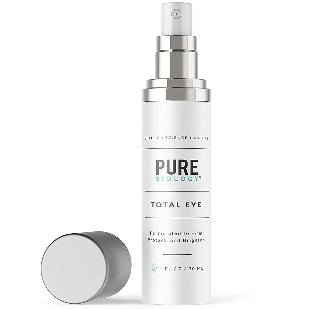 評議会驚聴覚[Pure Biology] [アイクリームTotal Eye Cream with Vitamin C + E, Hyaluronic Acid & Anti Aging Complexes to Reduce Dark Circles, Puffiness, Under Eye Bags, Wrinkles & Fine Lines] (並行輸入品)