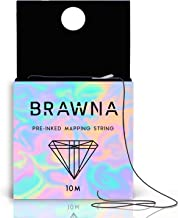 Pre-Inked Mapping String for Eyebrow Measuring, Made From Natural Bamboo Charcoal Thread Microblading Supply PMU kit