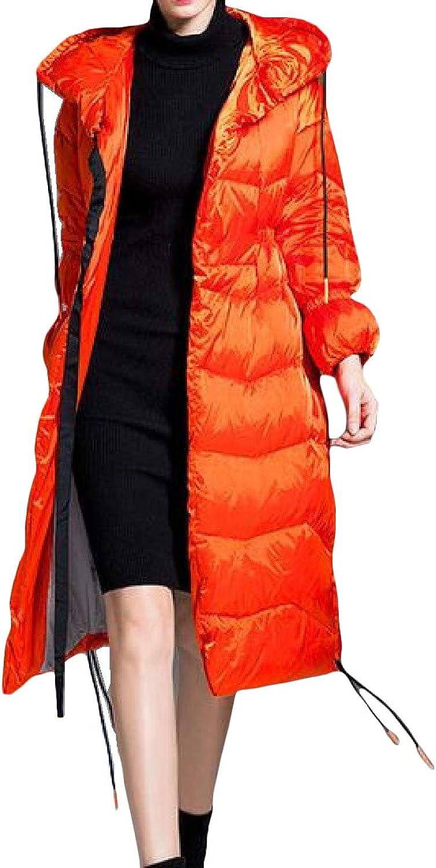 XiaoTianXinWomen XTX Women's Fashion Winter Zip Puffer Hooded Fleece Down Jacket Coat