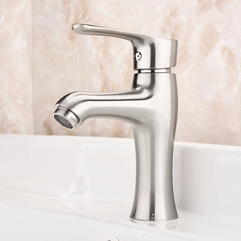 LHbox Bad Armatur in Bad für Waschbecken Waschtisch Wasserhahn Waschtischarmatur Warme und Kalte Becken Tippen, voll Kupfer-gebürstet Wasserhahn Mixer