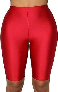Women's Snakeskin Print Biker Shorts High Waist Active Gym Workout Yoga Short Leggings Sexy Stretch Bodycon Hot Shorts