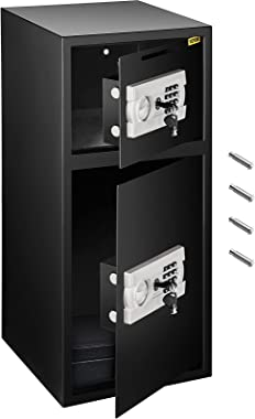 VEVOR Large Double Door Security Safe Box 2.6 Cubic Feet Steel Safe Box Strong Box with Digital Lock for Money Gun Jewelry Bl