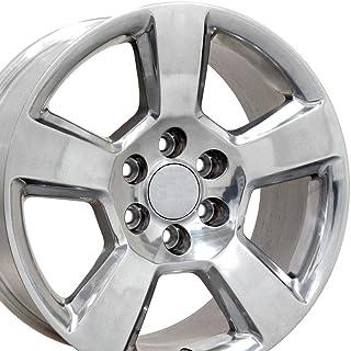 OE Wheels LLC 20 inch Rim Fits Chevy Tahoe Wheel CV76 20x9 Polished Wheel Hollander 5652