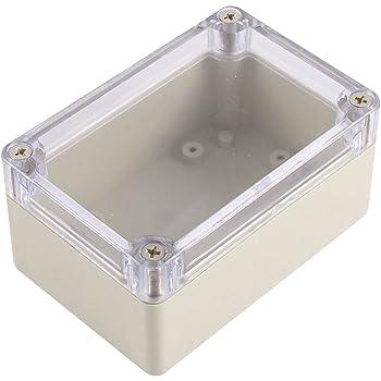 Caja de conexiones - SODIAL(R) Caja de proyecto electronico de armario impermeable de plastico 100 x 68 x 50MM: Amazon.es: Bricolaje y herramientas