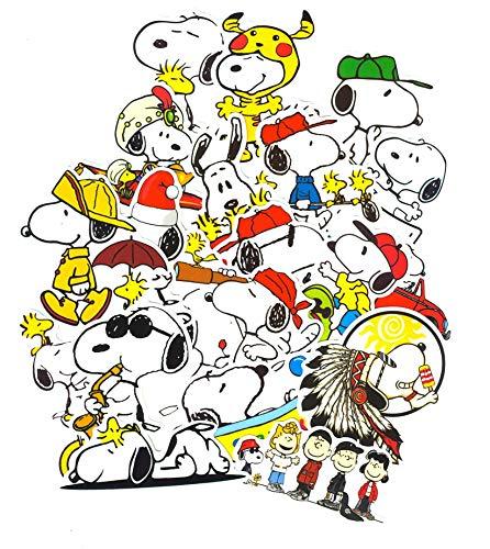 SetProducts Top Aufkleber! Set von 20 Snoopy Aufkleber - Premium Qualität - Vinyls Stickers Nicht Vulgär – Peanuts, Stil, Bombe, Graffiti - Anpassung Laptop, Gepäck, Motorrad, Fahrrad, Skateboard