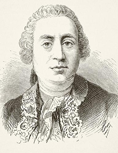 BrainBoosters Pôster David Hume 1711 a 1776 Historiano e filósofo escocês da História Nacional e Doméstica da Inglaterra por William Aubrey 44; 30 x 40 cm