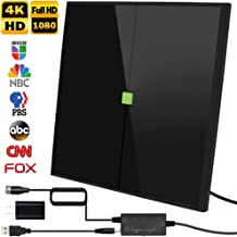 HDTV Antenna,2019 Newest Indoor Digital TV Antenna Version, 80-150Miles Range HDTV Antenna with Amplifier Signal Booster for 1080P 4K Free TV Channels, Amplified 17ft Coax Cable
