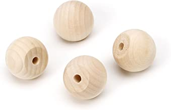 Darice 9119-27 Big Value Unfinished Wood Ball Knob, Natural, 1-Inch