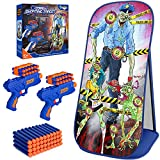 V-Opitos Zombie Shooting Game Toy for Kids Age of 5, 6, 7, 8, 9, 10 Years Old Boy&Girl, Zombie Shooting Target with 2 Foam Dart Blasters, Halloween Party Game, Ideal Christmas & Birthday Gift